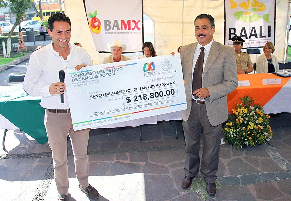PARTICIPACION DEL CONGRESO DEL ESTADO CON EL BANCO DE ALIMENTOS CON MOTIVO DEL DIA MUNDIAL DE LA AL