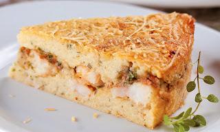 Receita Almoço de páscoa torta de batata e camarão