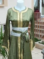 takchita couleur verte sirine