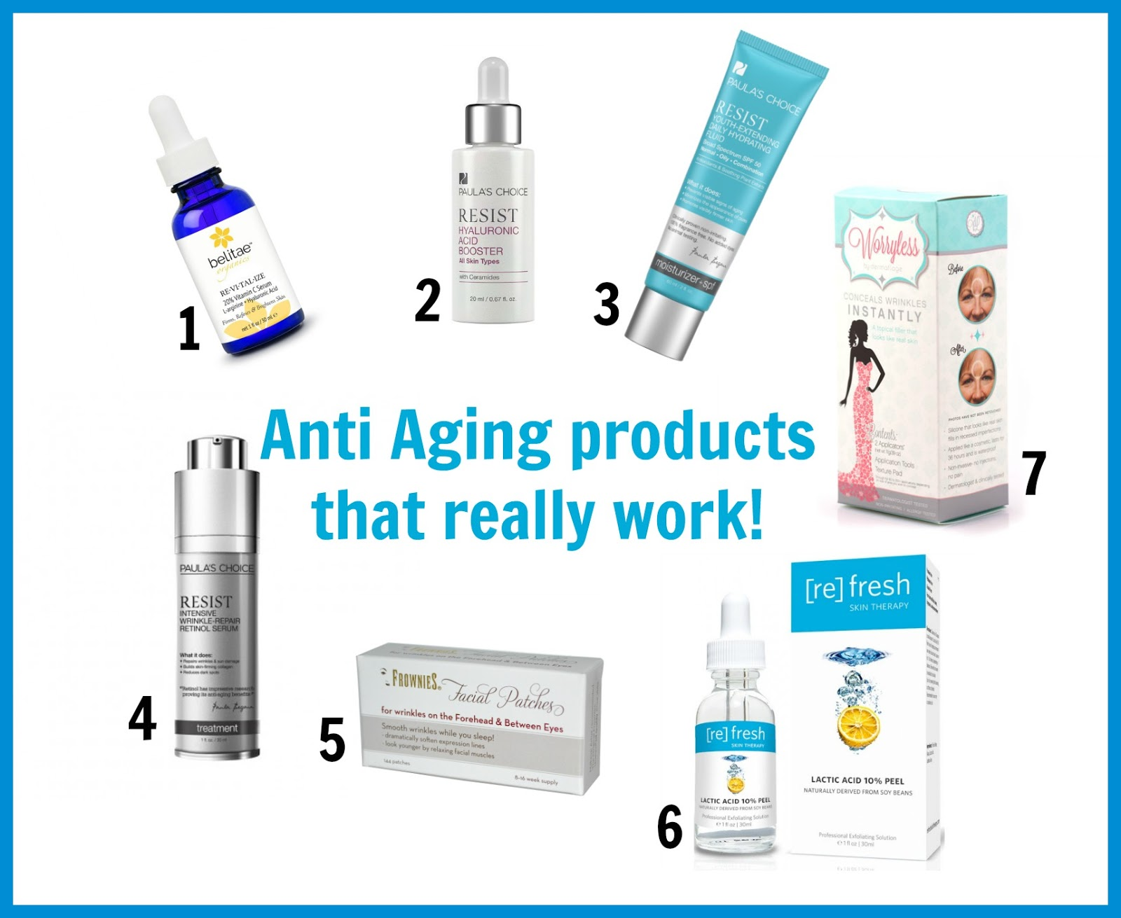 7 Anti Aging products that really work!