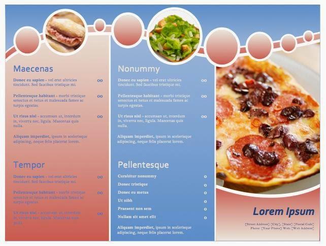 Hermosa Plantillas De Menú De Restaurante Photoshop Inspiración ...