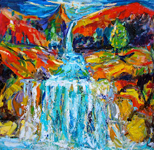 Waterfall Painting as poetry
