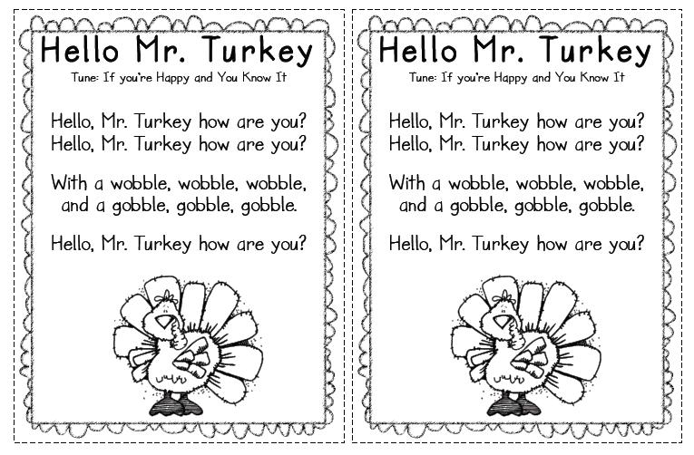 Mrs. Solis's Teaching Treasures: Turkey Poem Freebie