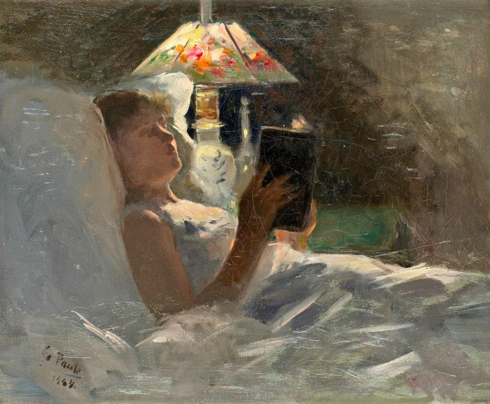 Georg Pauli - The Reading Light, 1884