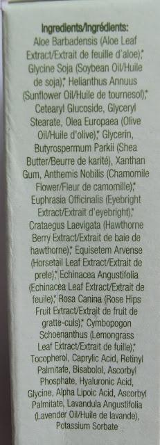Kiss My Face Eyewitness Goz Kremi eye cream ingredients