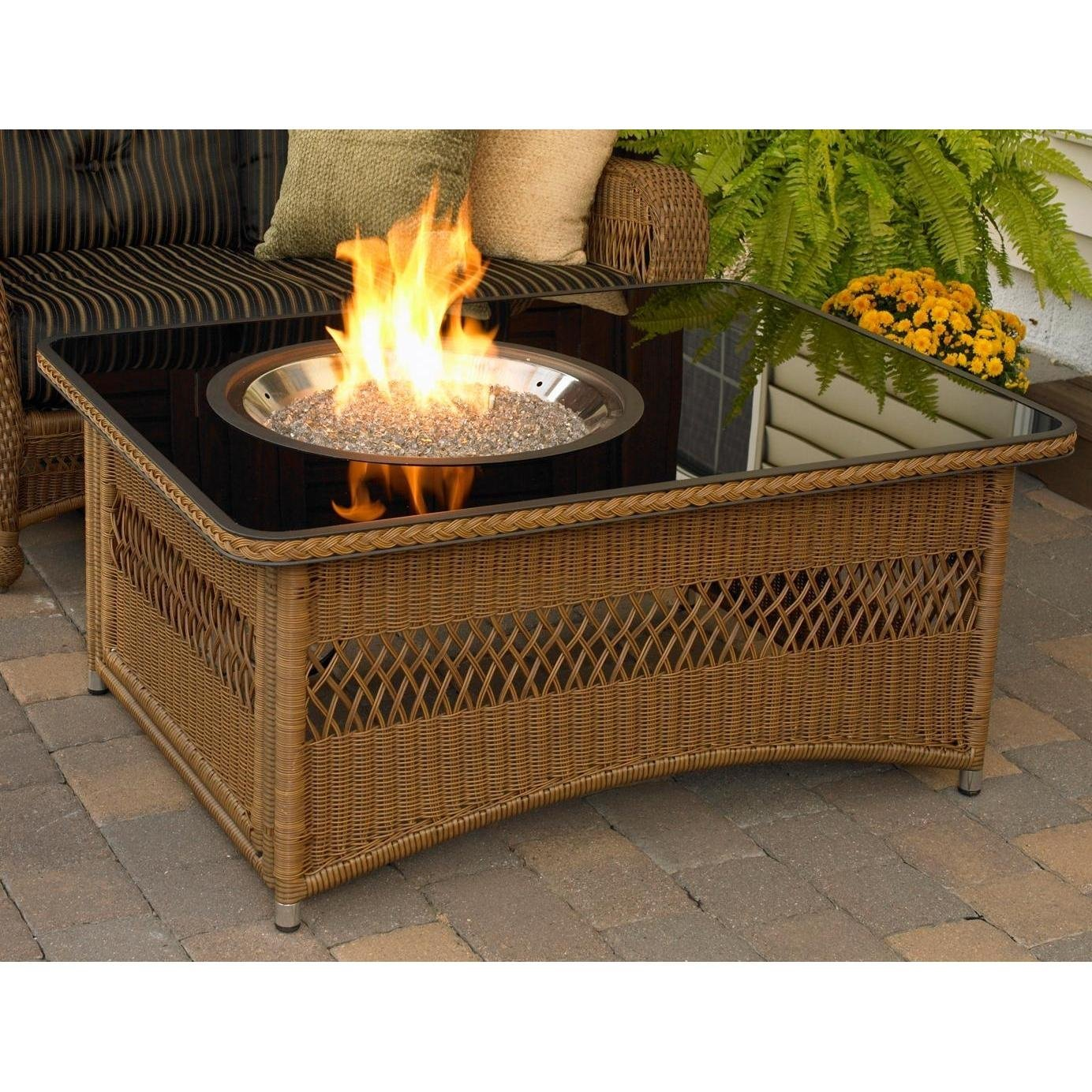 Patio Heaters And Fire Pit Blog Outdoor GreatRoom Company Resin - Resin wicker fire pit table