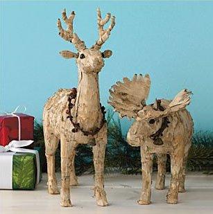 birch+reindeer Decoração de Natal: enfeites