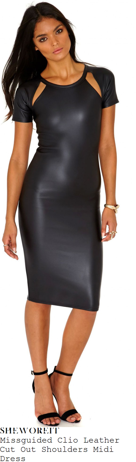 nicole-scherzinger-black-leather-midi-dress-celeb-juice