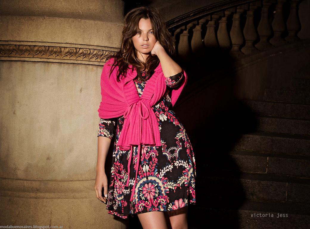 Vestidos y prendas tejidas Victoria Jess otoño invierno 2015. Moda otoño invierno 2015.