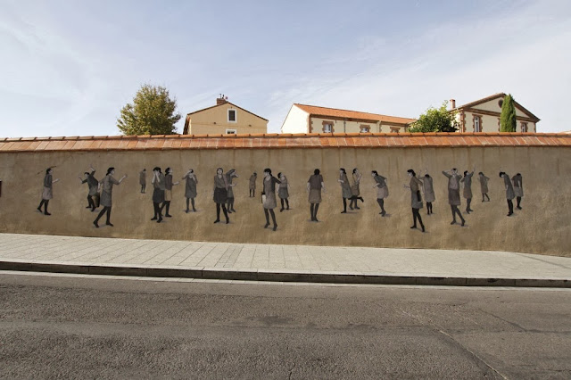 Street Art By Hyuro For the first edition of the Perpignan's Biennale in France. 2