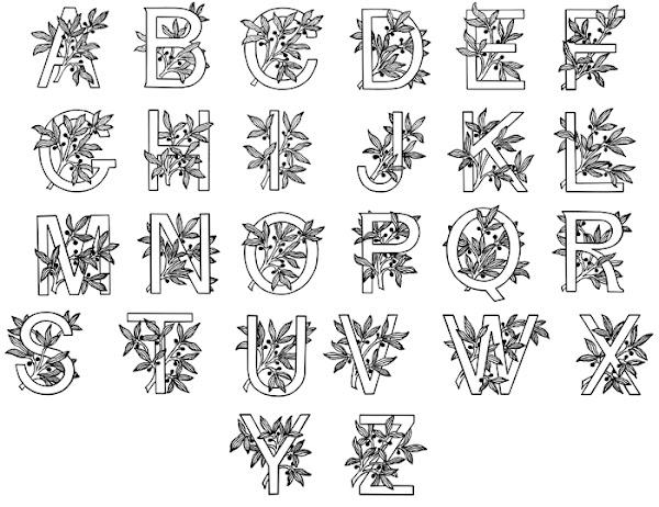Printable Illuminated Letters Alphabet