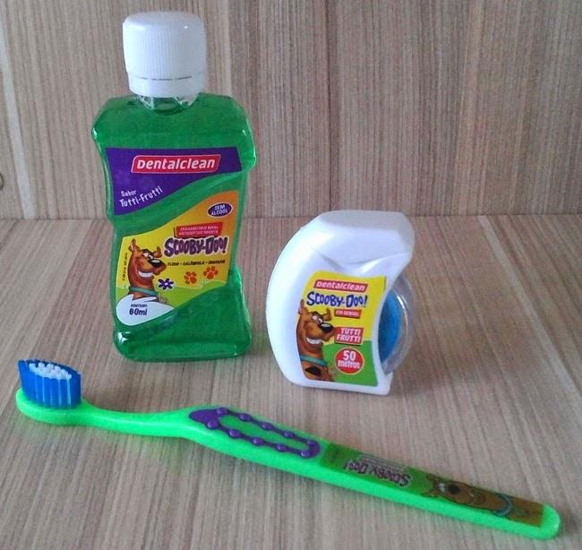 Dental Clean, Recebido, Resenha, Dentes, Saúde Bucal, Higiene, Garfield, Batman, Scooby-Doo!, Escovas, Fio Dental