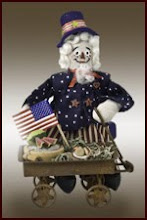 Uncle Sam, miniature art doll