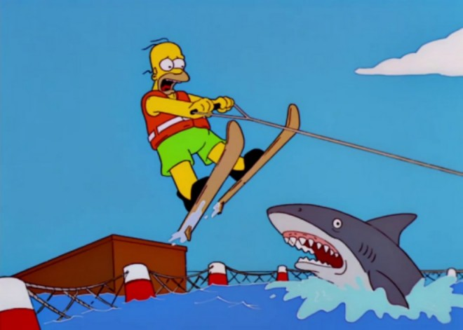 Homar Simpson and the Left Shark