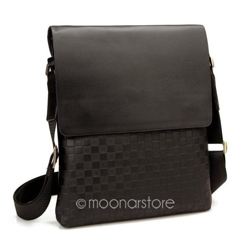 Luxury Men's Leather Business Shoulder Purse Messenger Bag Laptop Bag Briefcase