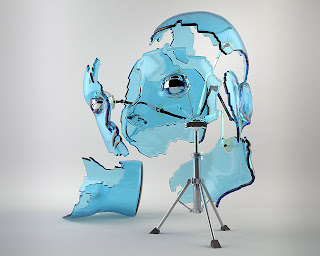 Face Broken 3D Wallpaper 1280x1024