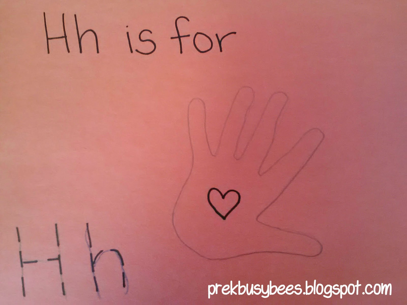 Pre-K Busy Bees: Hh is for Hand and Heart