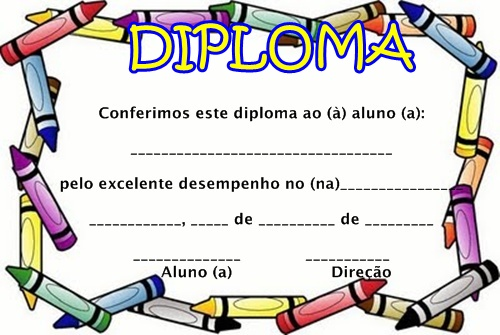 Pedagógiccos: Diplomas e certificados para formatura infantil ...