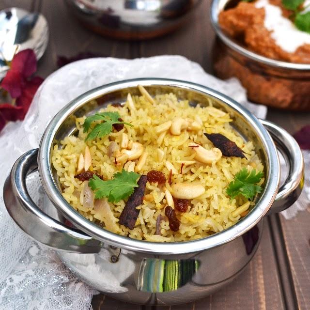 Zafrani Pulao/ Saffron Rice/ Hyderabadi Zafrani Pulao