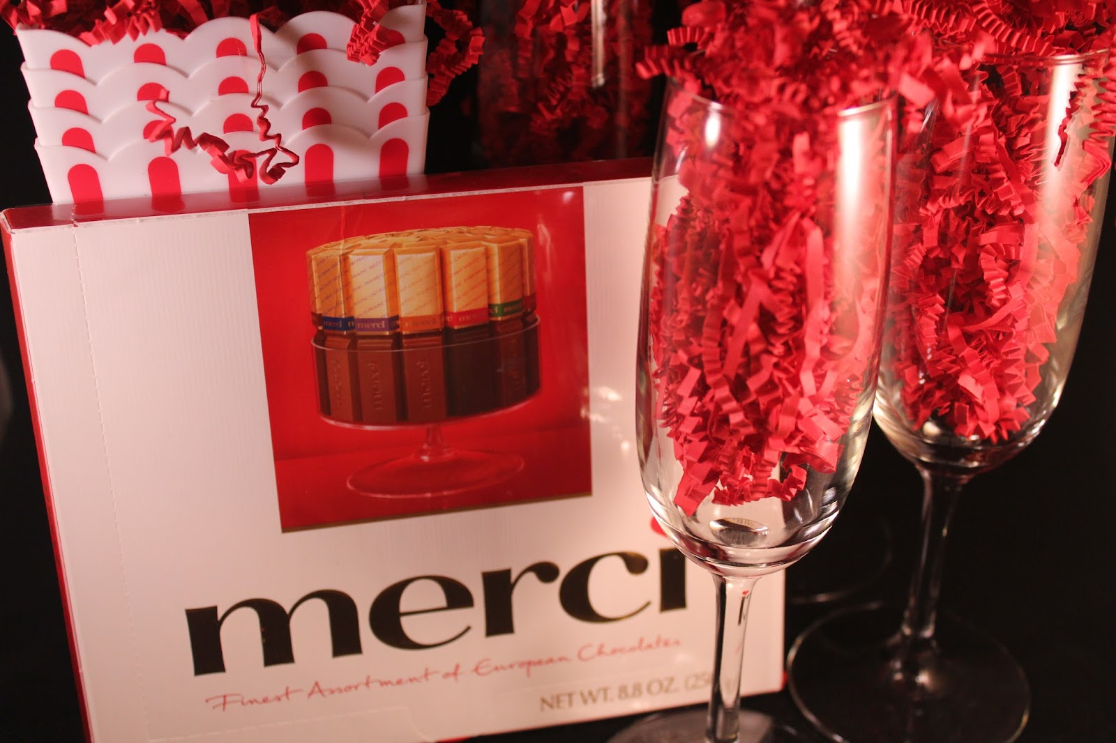 Delicious Dishings: Giveaway: Merci Chocolates And Champagne Flutes