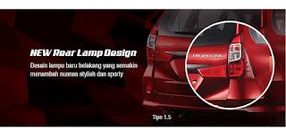 New Rear Lamp Design Grand New Veloz