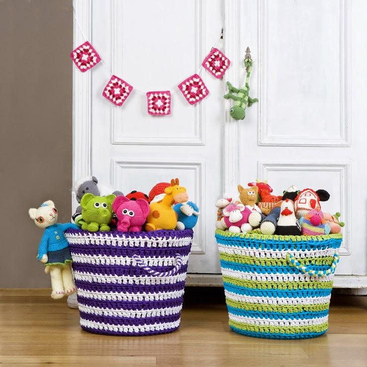 El blog de Dmc: Patrón para hacer unas cestas de ganchillo XL con ...