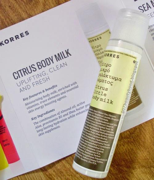 Korres Citrus Little Body Milk look fantastic beauty box february