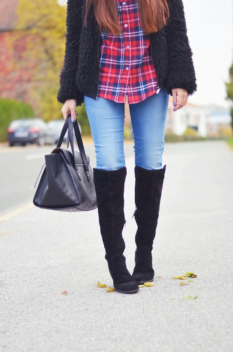 Outfits_Overknee_Stiefel_Herbst_Karo_Hemd_Fashionblogger_ViktoriaSarina