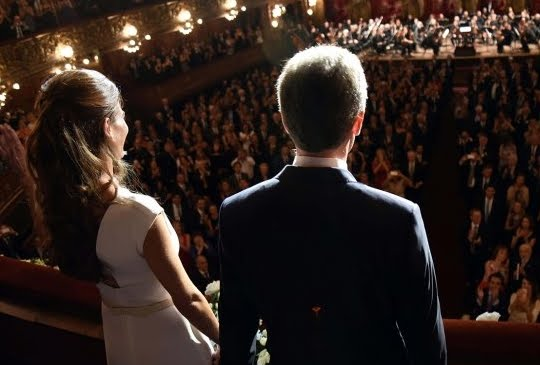 * Famosos junto a Mauricio Macri en la gala del Teatro Colón