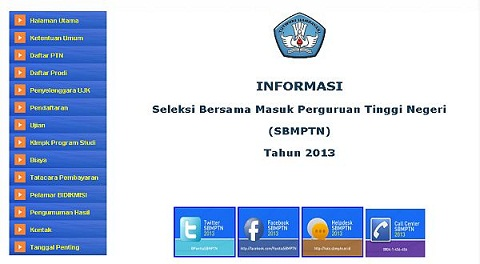 Mekanisme Pendaftaran SBMPTN 2013