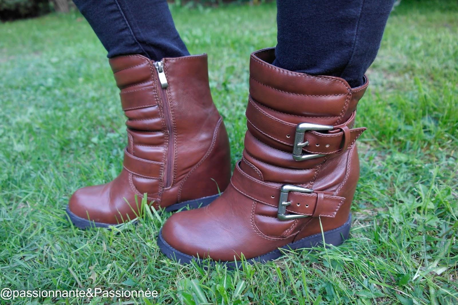 Boots compensés Babou