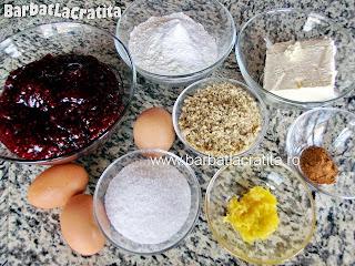 Tarta cu gem Linzer torte ingrediente reteta