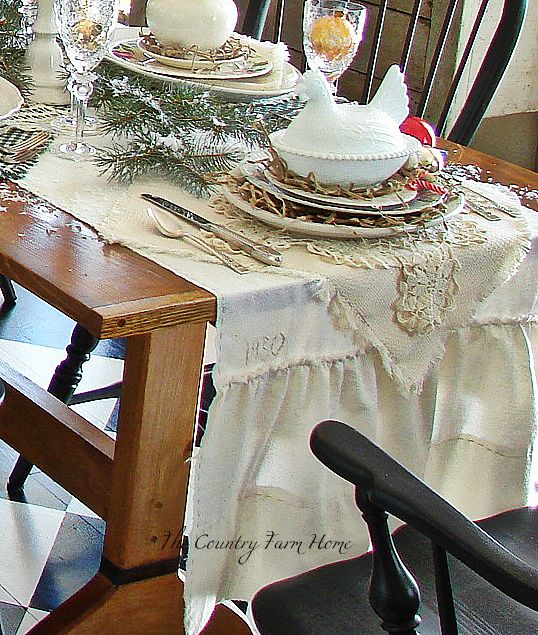 Did You Notice The Table Runner On Our Farmhouse Table In Recent Posts? Two  Ladies Inspired Me To Make It  Carolynn At Chenille Cottage And Sherry At  The ...