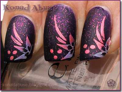 Nubar Purple Rain, Stargazer Chrome 234, GCOCL White Polish, GCOCL Plate G16, ELF Matte Finisher