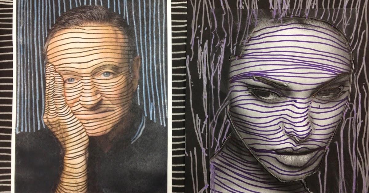 Cross Contour Line Drawing Face : Kristen applebee cross contour lesson