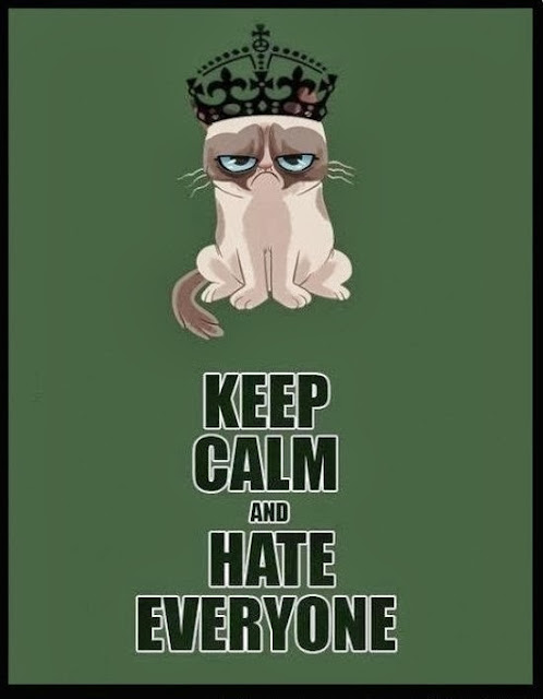Grumpy cat - 'Keep calm and hate everyone'