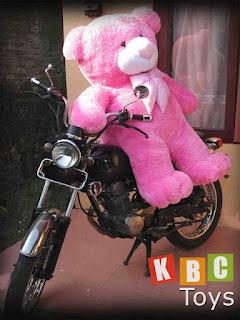 jual boneka teddy bear besar warna pink ukuran 1 5 meter