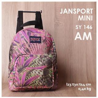 Jual Online Tas Ransel Jansport Mini Motif KW Harga Murah