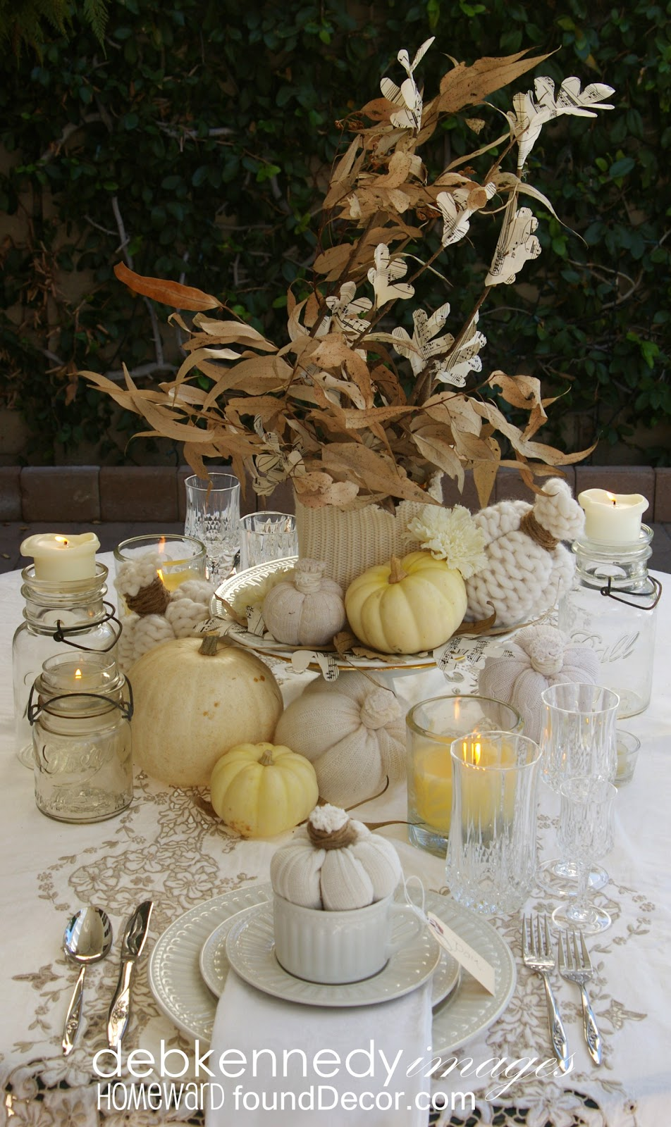 Decorating Ideas > Vintage White Fall TablescapehomewardFOUNDdecor ~ 080207_Thanksgiving Vintage Decorations