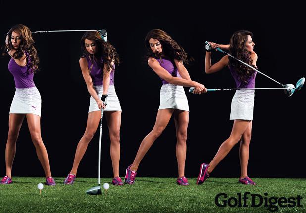 Holly Sonders Golf Swing Golf Digest 2013