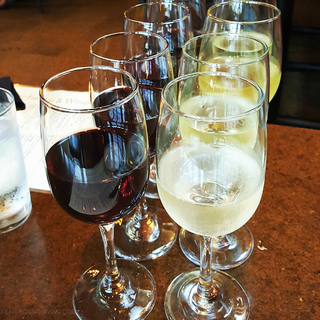 Wine Flight at Crush Kitchen, Annapolis MD