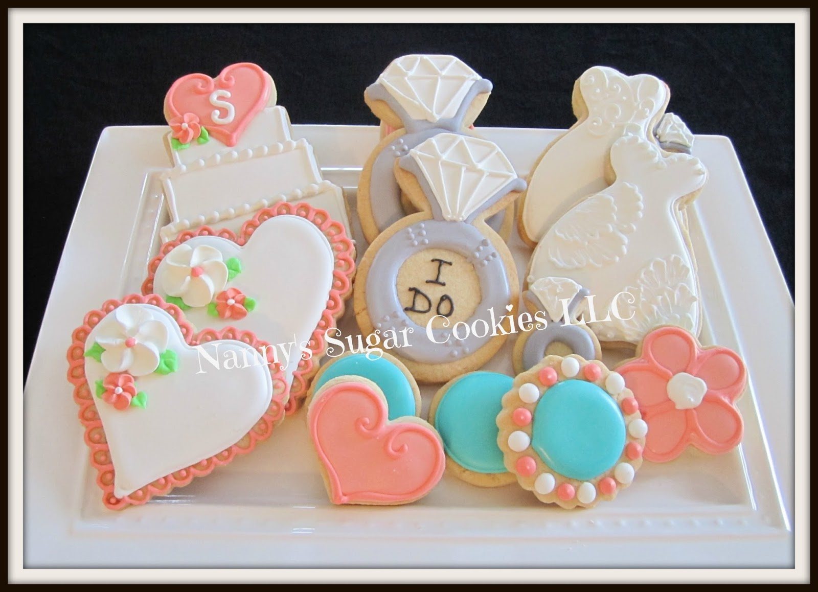 Nanny\'s Sugar Cookies LLC: Bridal Shower Cookie Platter....