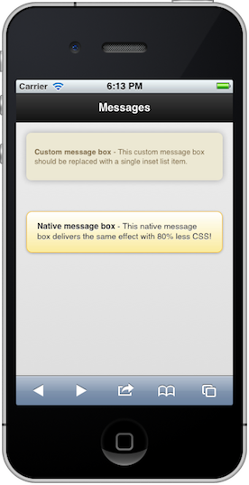 Native versus Custom Message Box