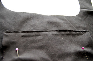 pin pocket to bag body