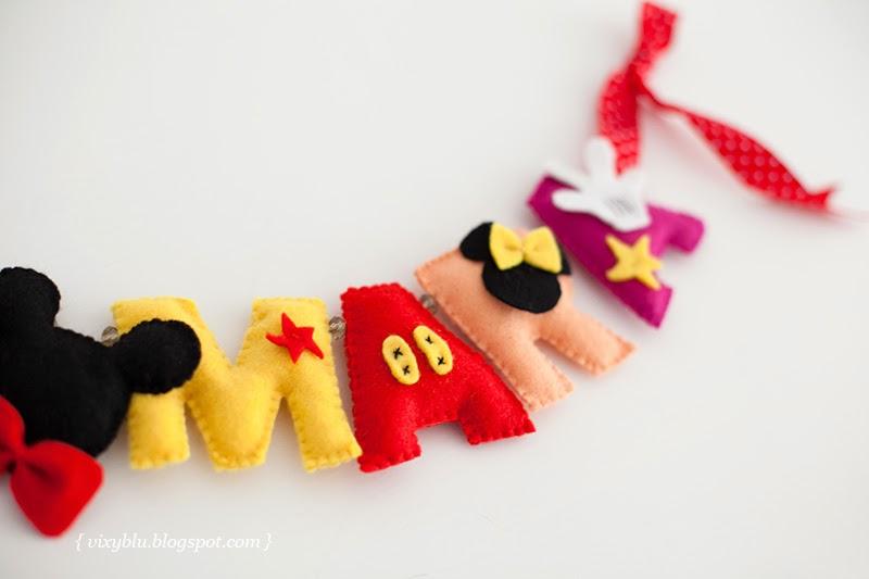 ghirlanda fetru handmade Mickey