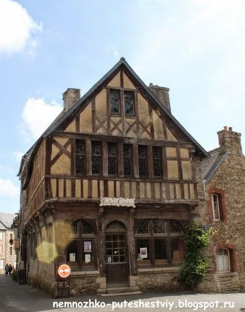 Трегье, Бретань, фахверковые дома