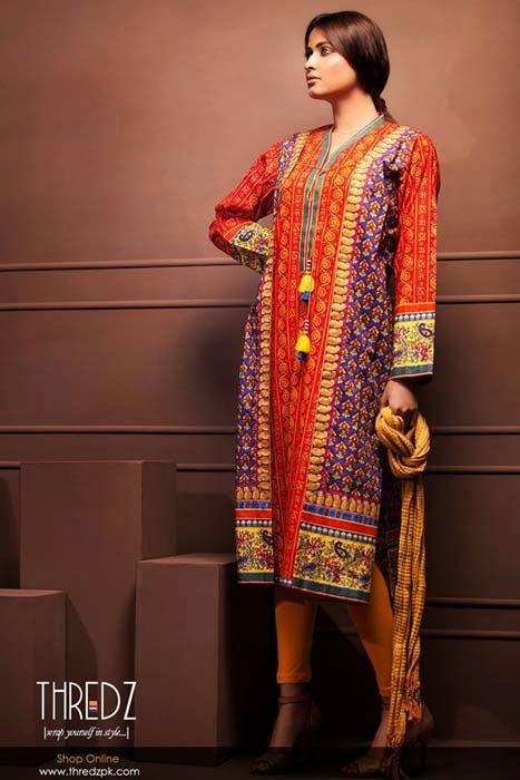 Thredz Cambric Winter Collection 2015 Volume 2 ~ Pakistani Fashion