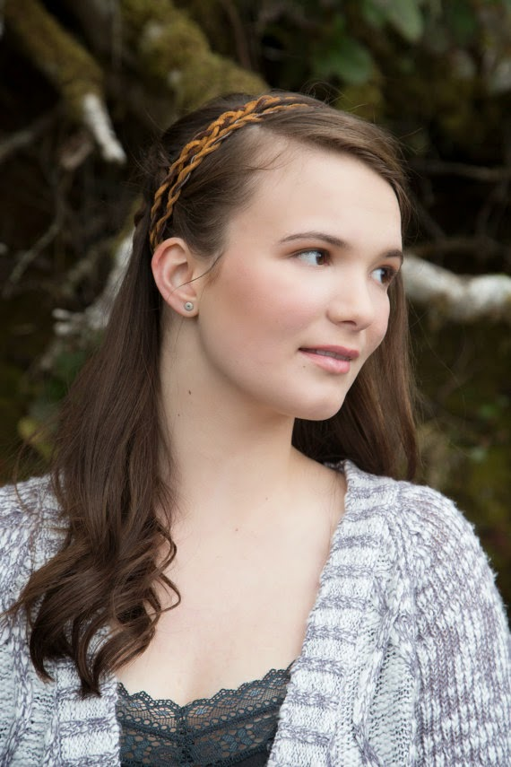genuine leather braided headband by Adorned Hearts