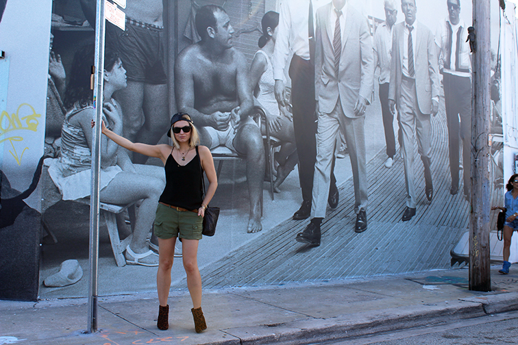 In front of the Terry O'neill gallery, MBAB, Art Basel 2014, Wynwood