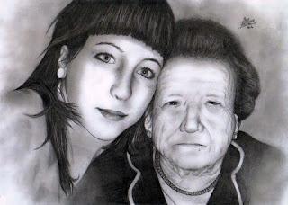 Mary con su abuela
